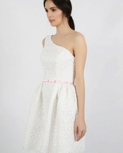 Вечернее платье бежевое Miodress