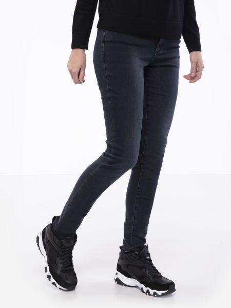 Синие зауженные джинсы-скинни на молнии Armani Exchange
