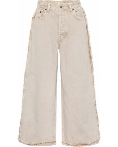 Коричневые широкие джинсы с декоративной отделкой Acne Studios