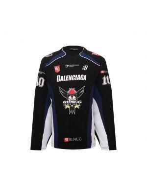 Черная футболка из полиэстера Balenciaga