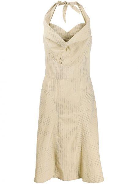 Зеленое приталенное платье с воротником без рукавов Vivienne Westwood Pre-owned
