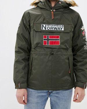 Утепленная куртка зеленая Geographical Norway