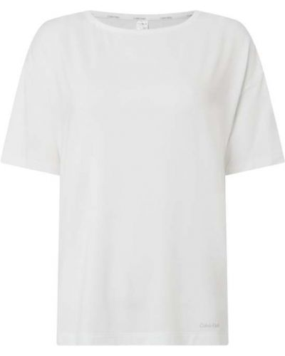 Biała piżama krótki rękaw Calvin Klein Underwear