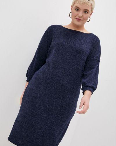 Синее платье-свитер Malena
