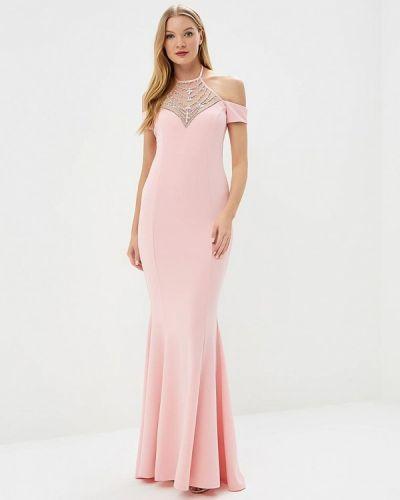 Розовое платье весеннее Goddiva