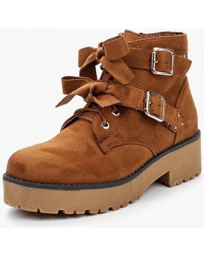 Коричневые ботинки на каблуке Vh