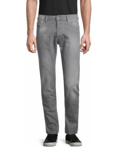 Прямые черные джинсы с карманами Diesel