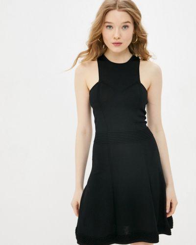 Прямое черное платье А-силуэта Silvian Heach
