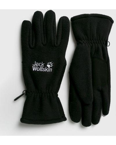 Перчатки текстильные черные Jack Wolfskin