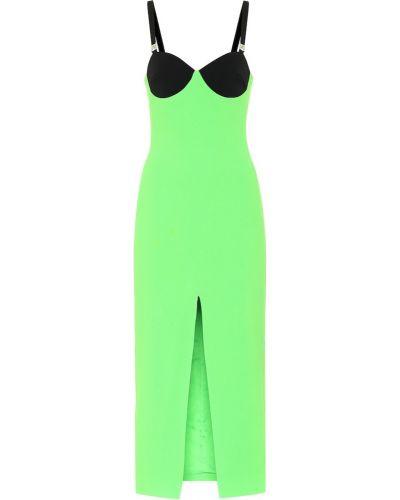 Платье миди - зеленое David Koma