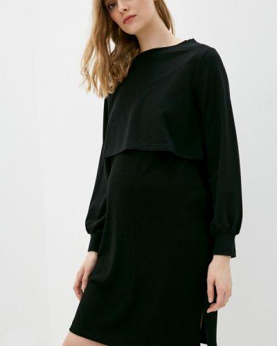 Повседневное черное платье для беременных Gap Maternity