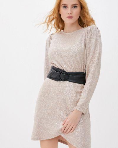 Прямое бежевое платье Befree
