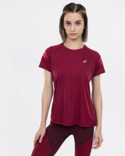 Спортивная футболка приталенная красный Asics