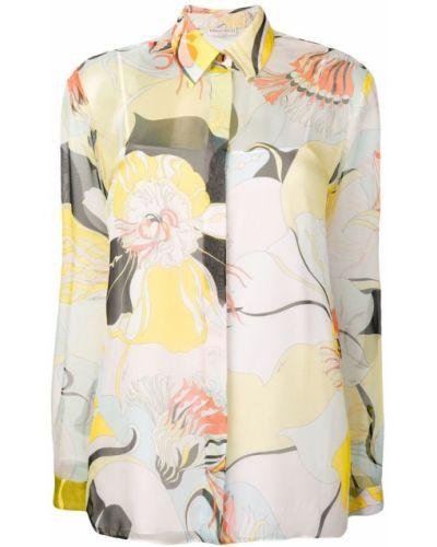 Рубашка с длинным рукавом с принтом на пуговицах Emilio Pucci