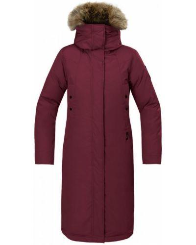 Пуховое длинное пальто с капюшоном на молнии Red Fox
