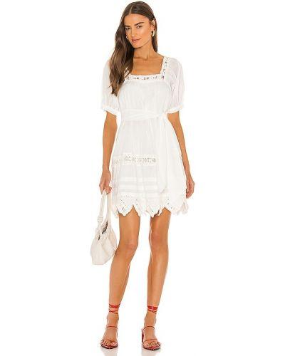 Biała sukienka zapinane na guziki Cleobella