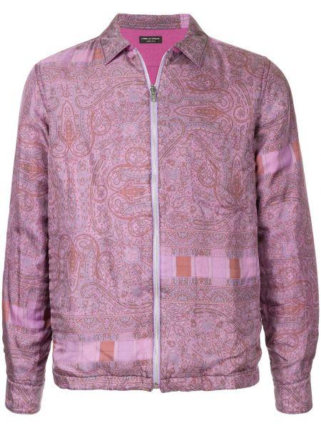 Розовая нейлоновая куртка на пуговицах винтажная Comme Des Garçons Pre-owned
