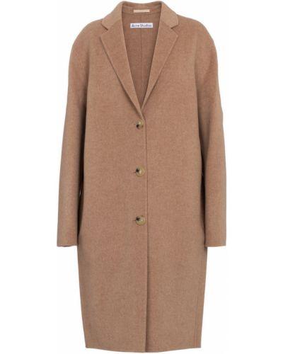 Klasyczny brązowy płaszcz wełniany Acne Studios