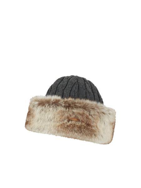 Beżowy wełniany czapka prążkowany bezpłatne cięcie Barts