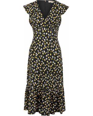 Платье с цветочным принтом черное Michael Michael Kors