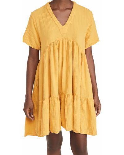 Хлопковое платье с короткими рукавами с карманами 9seed