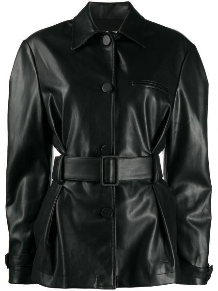 Klasyczna czarna klasyczna koszula z długimi rękawami Brognano