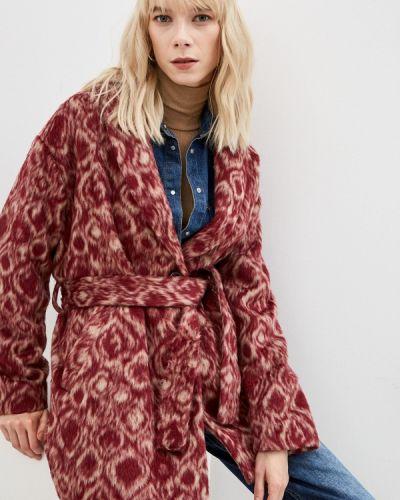 Бордовое зимнее пальто Dondup