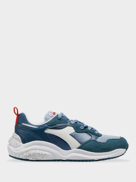 Текстильные кроссовки - голубые Diadora