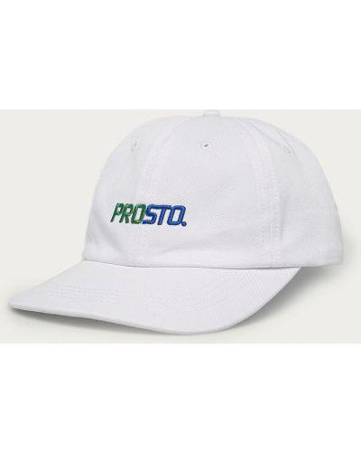 Biały kapelusz materiałowy Prosto.