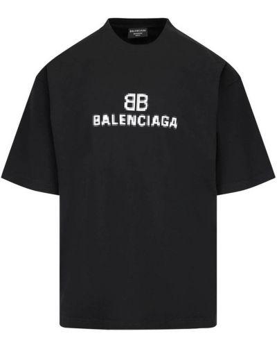 Czarna t-shirt dzianinowa Balenciaga
