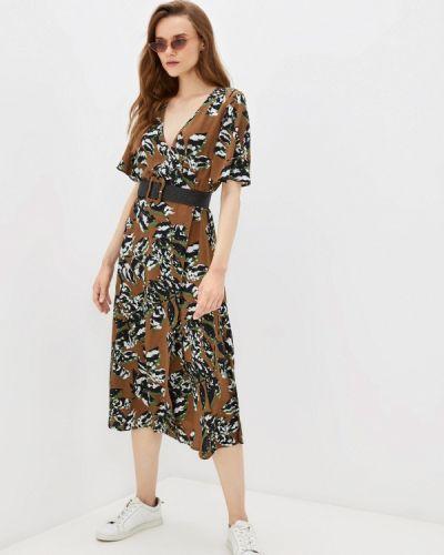Коричневое весеннее платье элис