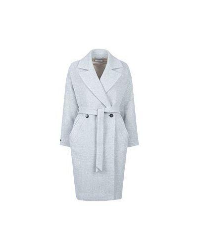 Пальто серое пальто-халат Peserico