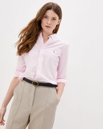 Розовая рубашка с длинными рукавами Polo Ralph Lauren