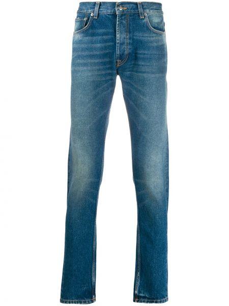 Niebieskie jeansy bawełniane z paskiem Htc Los Angeles