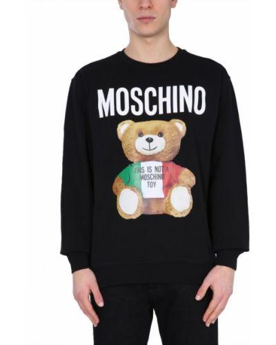 Bluza bawełniana oversize z printem Moschino