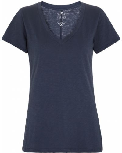 T-shirt bawełniana - niebieska Velvet