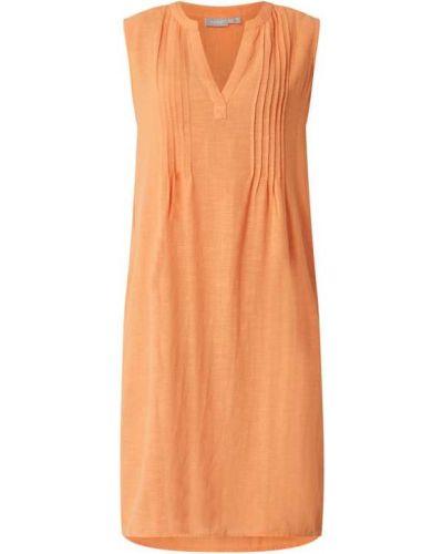 Pomarańczowa sukienka rozkloszowana bawełniana Fransa