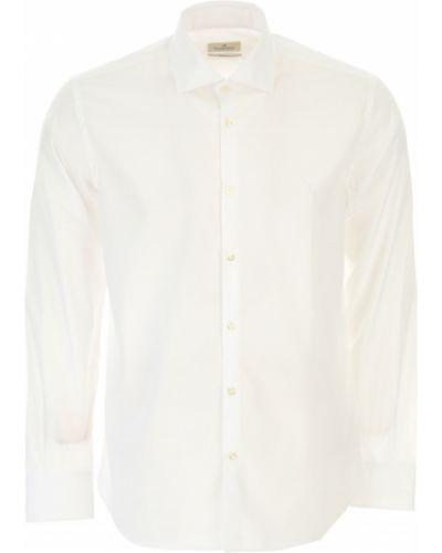Biała koszula slim bawełniana z długimi rękawami Brooksfield