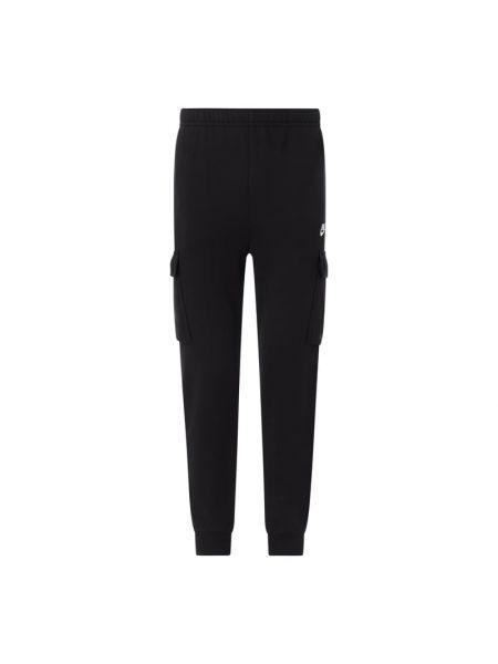 Czarne spodnie dresowe bawełniane Nike
