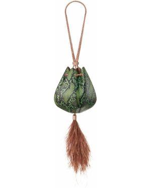 Torebka na łańcuszku skórzana - zielona The Volon