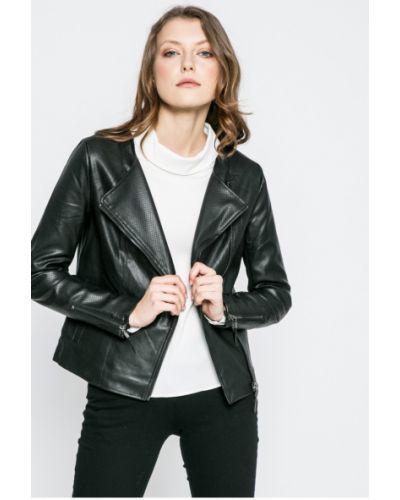Кожаная куртка облегченная с карманами Only