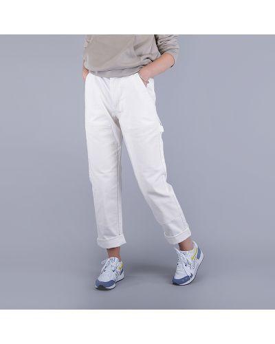 Бежевые брюки хлопковые Stussy