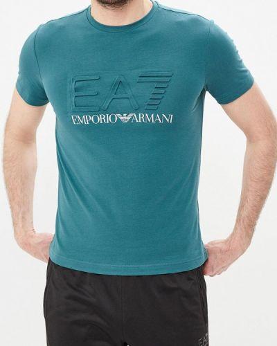 Зеленая футболка Ea7