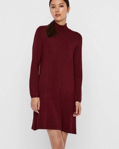 Красное вязаное платье Vero Moda