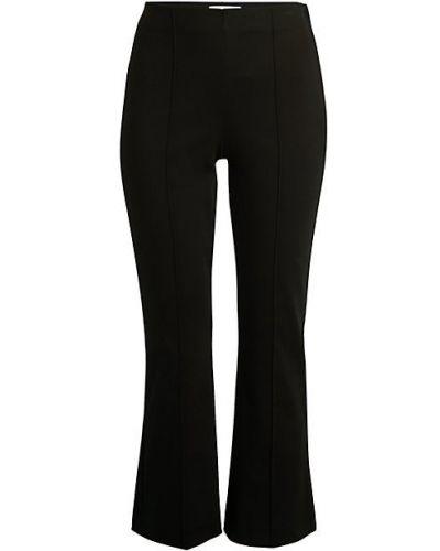 Czarne spodnie bawełniane rozkloszowane Bailey 44