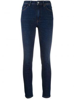 Хлопковые синие джинсы классические стрейч Acne Studios