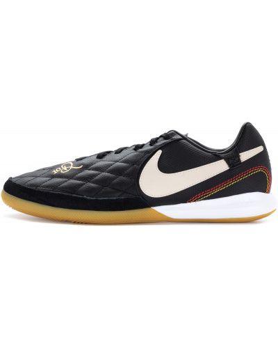 Бутсы кожаные черные Nike