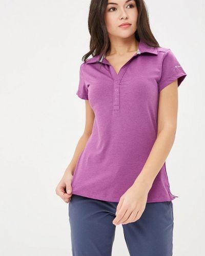 Фиолетовое поло Columbia