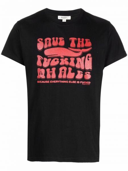 Czarna T-shirt z nadrukiem z printem Phipps