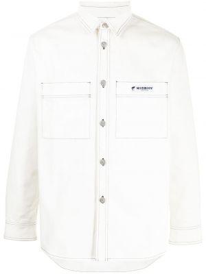 Biała biała koszula bawełniana Misbhv